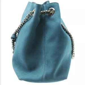 Gucci Bags - Gucci Medium Soho Chain Blue Leather Tote